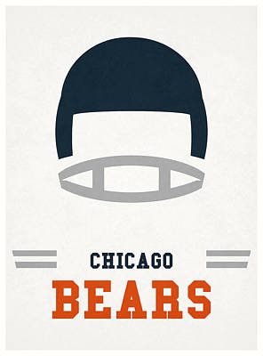 Mixed Media - Chicago Bears Vintage Nfl Art by Joe Hamilton