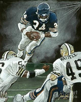 Chicago Bears Walter Payton  Art Print