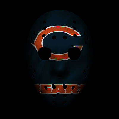 Chicago Bears War Mask Art Print by Joe Hamilton