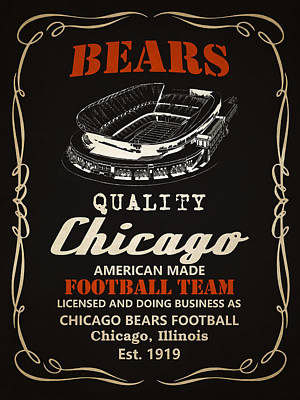 Painting - Chicago Bears Whiskey 2 by Joe Hamilton