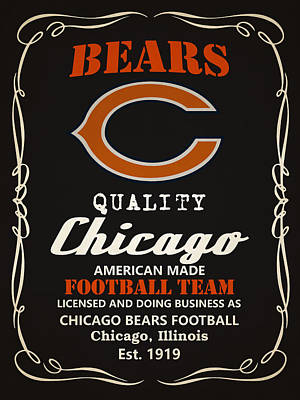 Painting - Chicago Bears Whiskey by Joe Hamilton