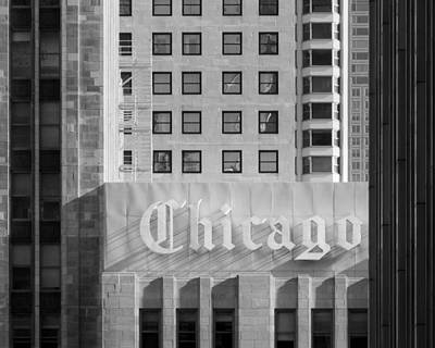 Photograph - Chicago Black And White - Chicago Illinois by Darin Volpe