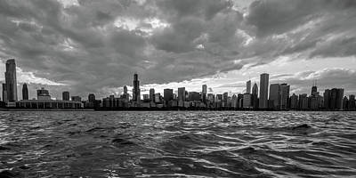 Chicago Photograph - Chicago Black And White by Med Studio