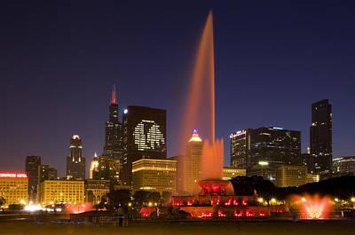 Night Hawk Wall Art - Photograph - Chicago Black Hawks In Lights by Patrick  Warneka
