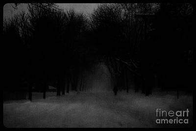 Frank J Casella Royalty-Free and Rights-Managed Images - Chicago Blizzard - Monochrome by Frank J Casella
