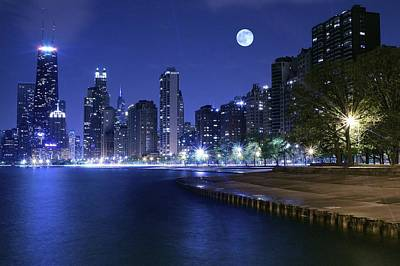 Photograph - Chicago Blue by Frozen in Time Fine Art Photography