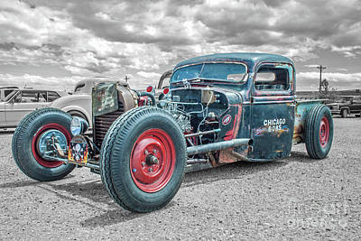 Photograph - Chicago Bob's Rat  Rod by Tony Baca