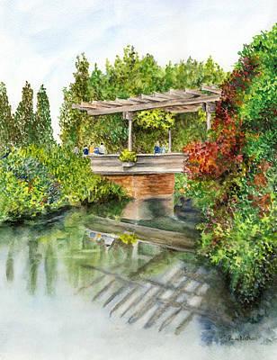 Painting - Chicago Botanic Gardens by Paula Nathan