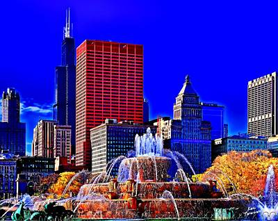 Photograph - Chicago Bright Light by Kathy Tarochione