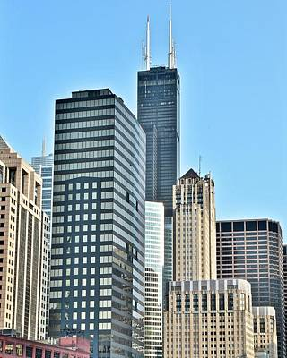 Photograph - Chicago Building Cluster by Frozen in Time Fine Art Photography