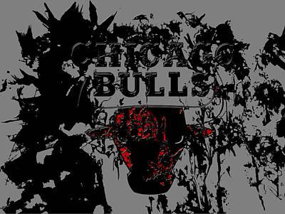 John Stockton Mixed Media - Chicago Bulls 1a by Brian Reaves