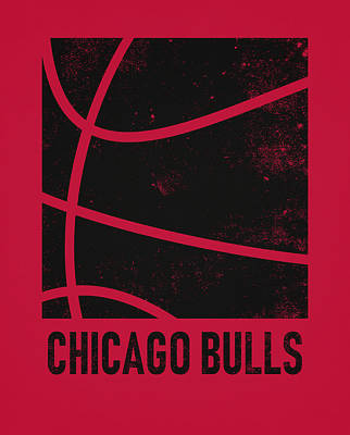 Mixed Media - Chicago Bulls City Poster Art 2 by Joe Hamilton