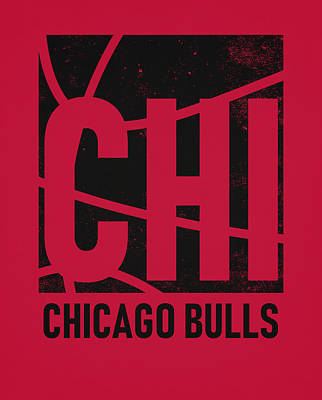 Mixed Media - Chicago Bulls City Poster Art by Joe Hamilton