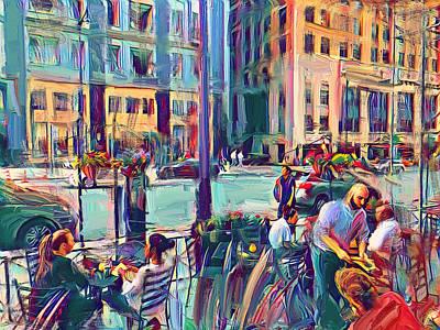 Digital Art - Chicago Cafe by Yury Malkov