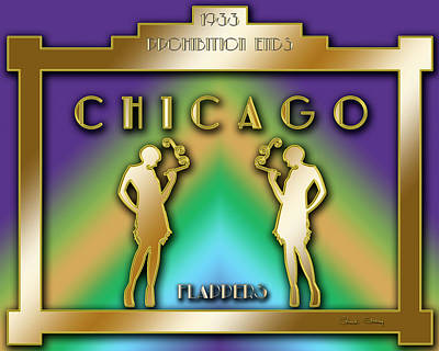 Digital Art - Chicago Prohibition by Chuck Staley