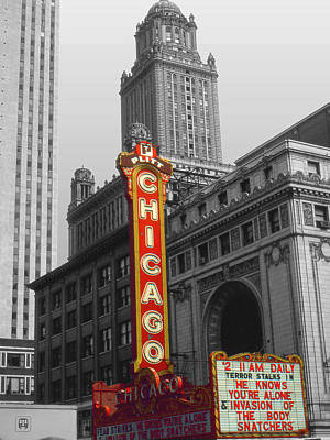 Photograph - Chicago Cinema - Highlight by Art America Gallery Peter Potter