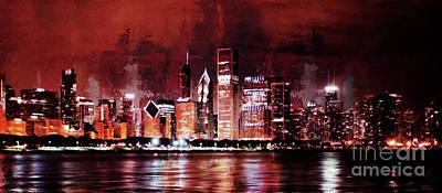 Chicago City Art 99k Original by Gull G
