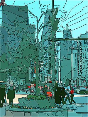 Digital Art - Chicago City Lines 2 by Yury Malkov