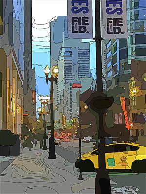 Digital Art - Chicago City Lines 3 by Yury Malkov