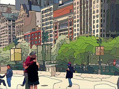 Digital Art - Chicago City Lines 4 by Yury Malkov