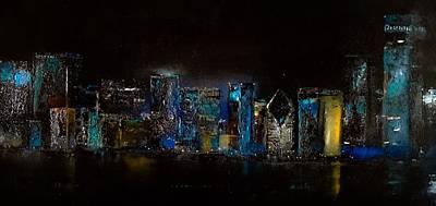 Chicago City Scene Art Print