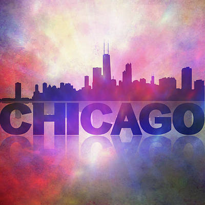 Painting - Chicago City Skyline by Lilia D