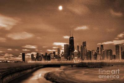 Chicago City Vew 09 Original by Gull G