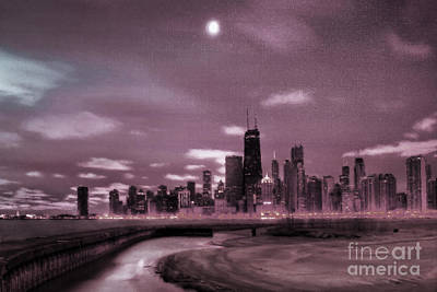 States Painting - Chicago City View 03 by Gull G