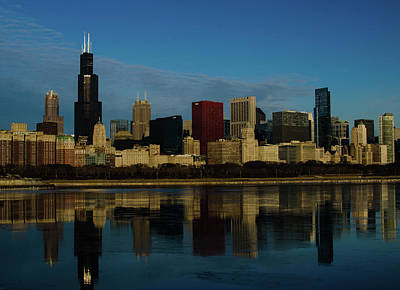 Photograph - Chicago City View by Miguel Winterpacht