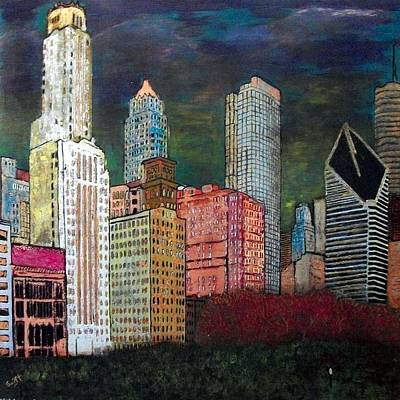 Chicago Cityscape Print by Char Swift