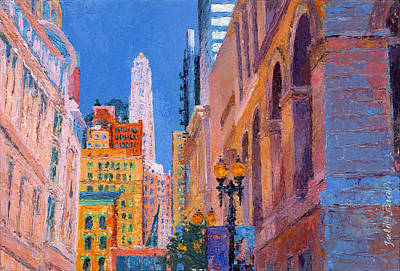 Painting - Chicago Cityscape With The Mather Tower by Judith Barath