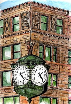 Chicago Clock Art Print by Paul Meinerth