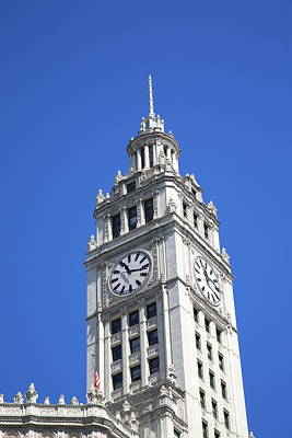 Photograph - Chicago Clocktower by Frank Romeo