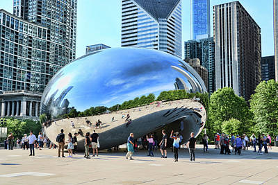 Photograph - Chicago Cloud Gate, A K A The Bean # 2 by Allen Beatty