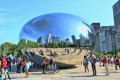 Photograph - Chicago Cloud Gate, A K A The Bean # 3 by Allen Beatty