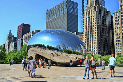 Photograph - Chicago Cloud Gate, A K A The Bean # 4 by Allen Beatty