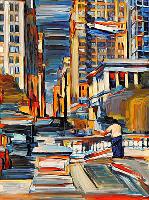 Building Exterior Digital Art - Chicago Colors 7 by Yury Malkov