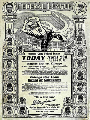Fed Photograph - Chicago Cub Poster by Jon Neidert
