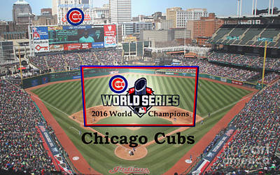 Chicago Cubs Digital Art - Chicago Cubs - 2016 World Series Champions by Charles Robinson