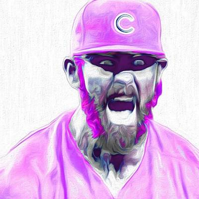 Celebrities Photograph - Chicago Cubs Ace Jake Arietta. No No #2 by David Haskett