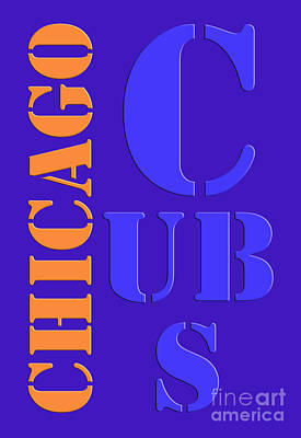 Chicago Cubs Painting - Chicago Cubs Baseball Team Vintage Original Typpography by Pablo Franchi