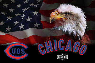 Chicago Cubs Digital Art - Chicago Cubs Champions 2016 by Daniel Hagerman