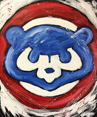 Bat Painting - Chicago Cubs by Elliott From