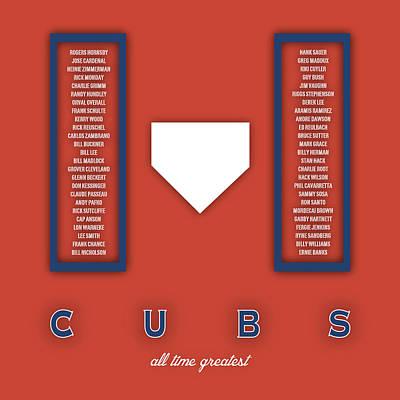 Mlb Digital Art - Chicago Cubs Art - Mlb Baseball Wall Print by Damon Gray