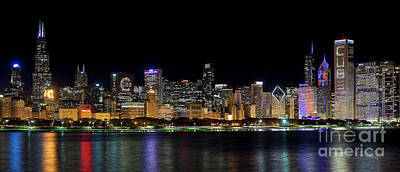 Jeff Lewis Photograph - Chicago Cubs Skyline by Jeff Lewis