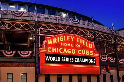 Chicago Cubs Win Art Print by Andrew Soundarajan