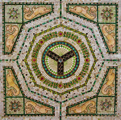 Photograph - Chicago Cultural Center Ceiling by David Levin