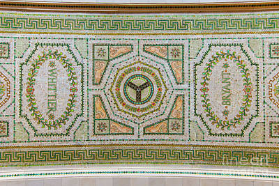 Photograph - Chicago Cultural Center Ceiling With Y Symbol by David Levin