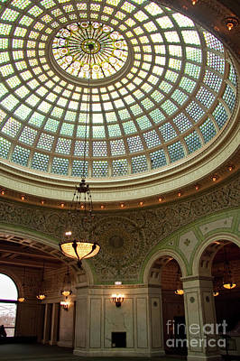 Photograph - Chicago Cultural Center Dome by David Levin
