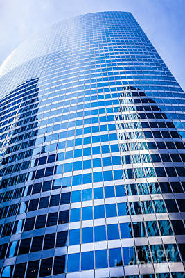 Chicago Curved Glass Building Architecture Art Print by Paul Velgos